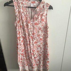 Peach/White Mini Dress from the Gap